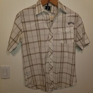 Billabong mens button up short sleeve shirt